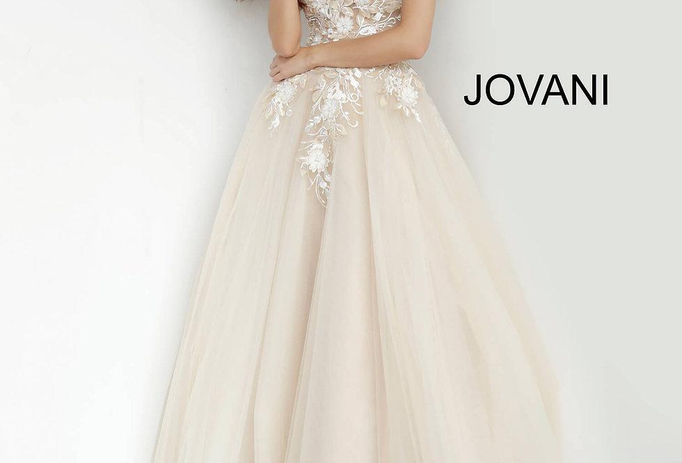 Jovani A Line Lace Dress 02758