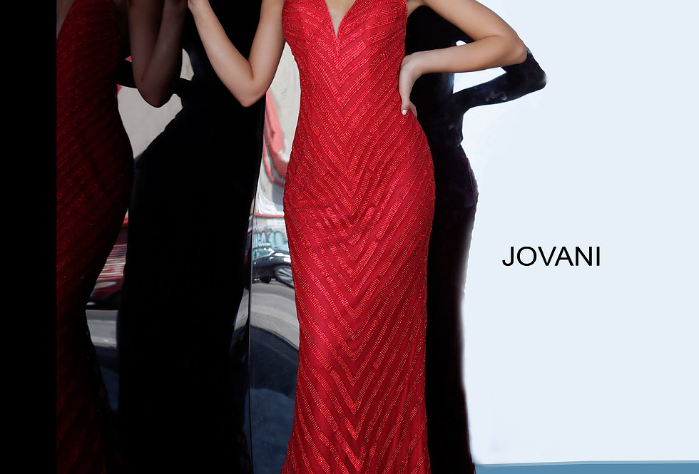 Jovani Fitted Shimmer Dress 00399