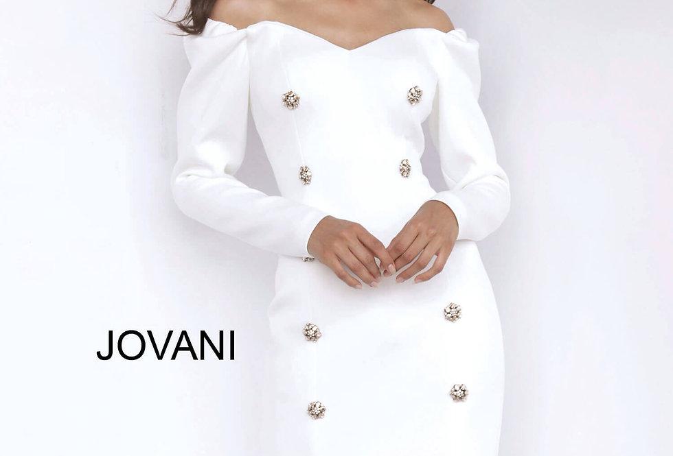 Jovani Short Off The Shoulder Fitted Dress 3570