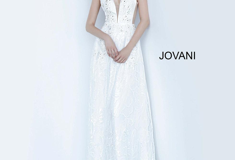 Jovani V-Neck Lace Dress 66168