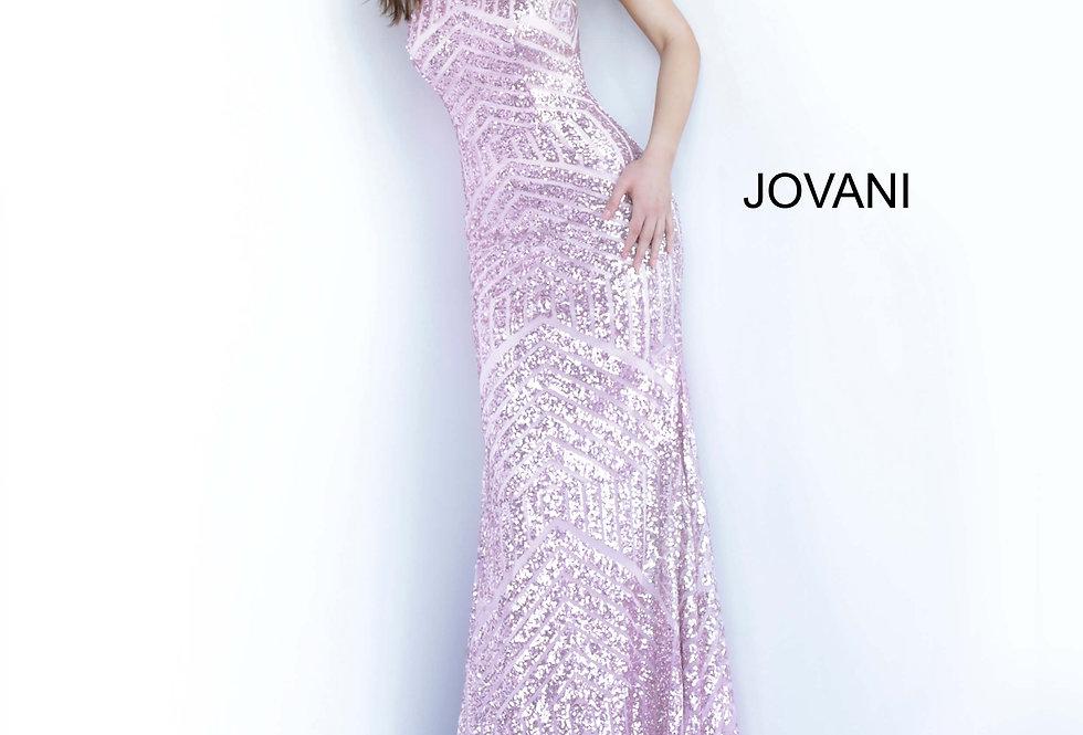 Jovani High Neckline Sequins Dress 4132
