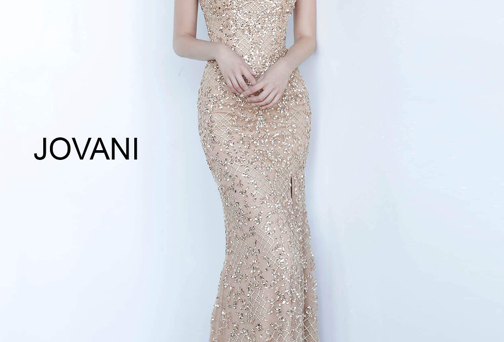 Jovani Beaded Fitted Dress 66235