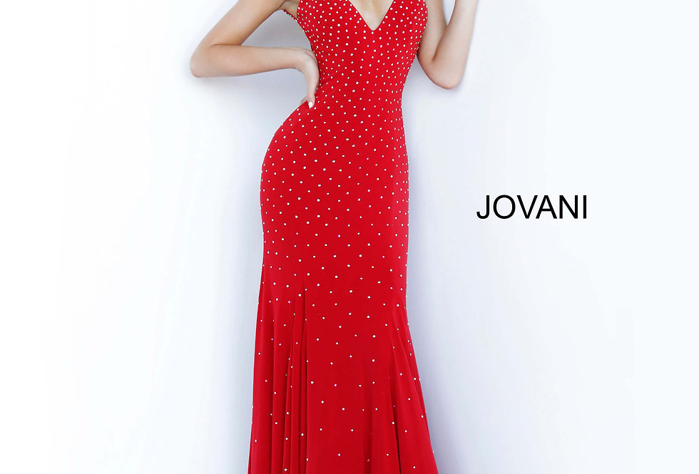 Jovani Fitted Scoop Dress 63563