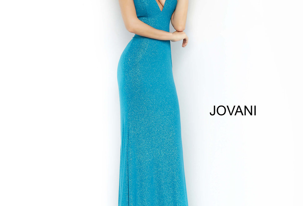 Jovani Glitter Fitted Dress 67866