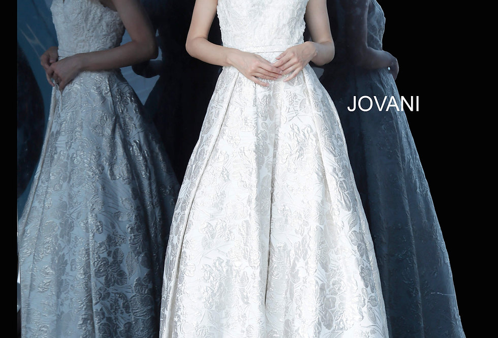 Jovani Beaded A Line Dress 67633