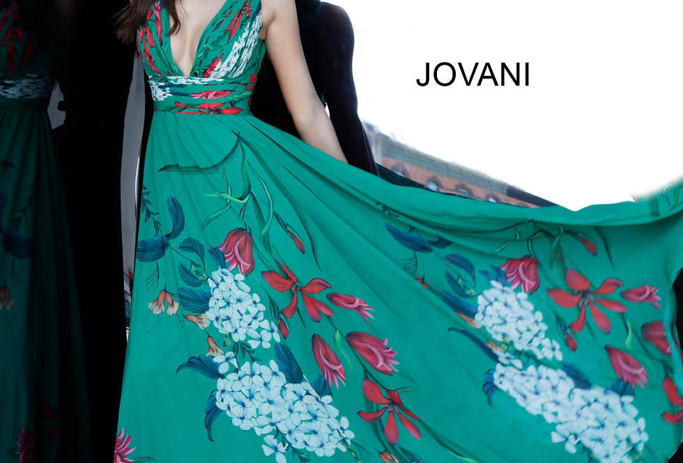 Jovani Printed A Line Dress 1033