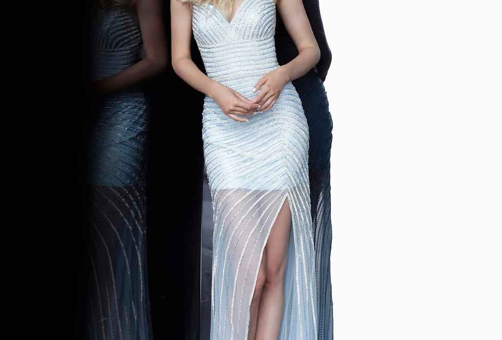 Jovani Short V-Neck Sequins Dress 3187