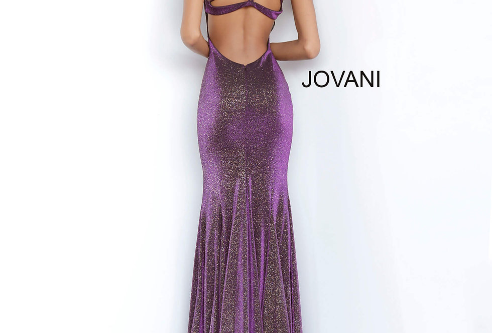 Jovani Long Shimmer Dress 1068