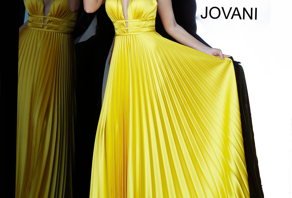 Jovani Long Pleated Dress 00637