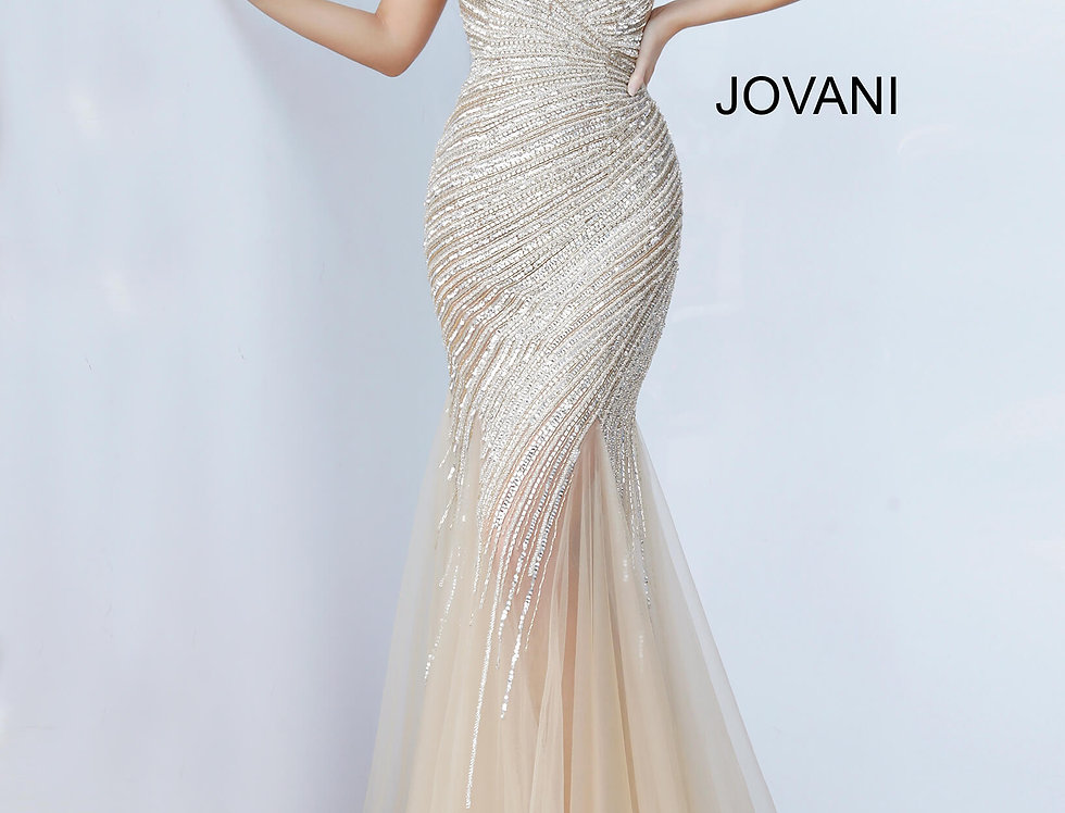 Jovani Beaded Mermaid Dress 4741