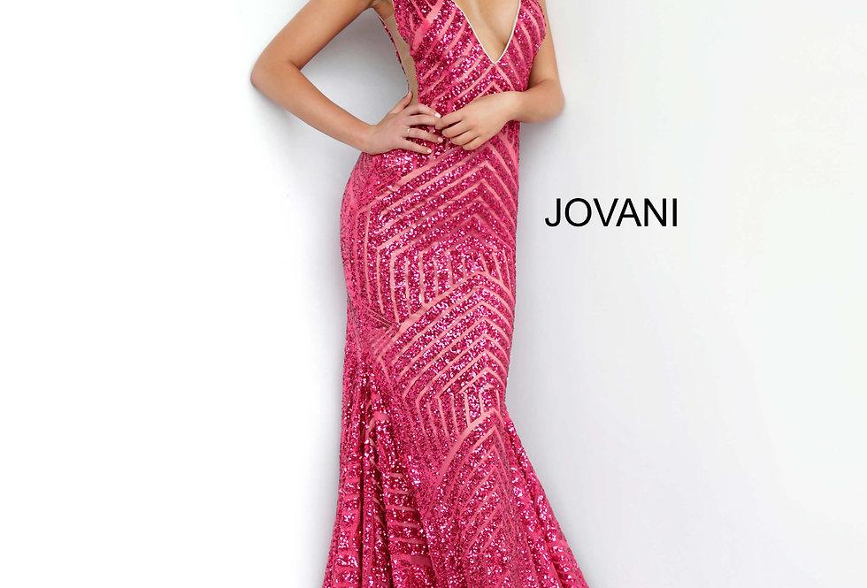 Jovani V- Neckline Sequins Dress 59762