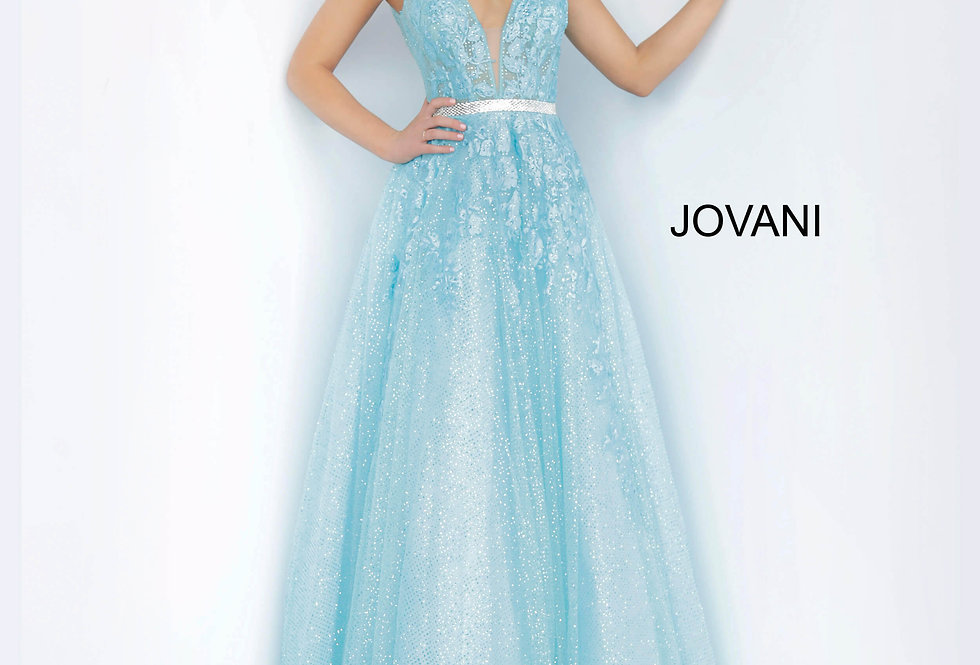 Jovani A Line Beaded Dress 2098