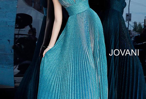 Jovani Long Pleated Dress 2088