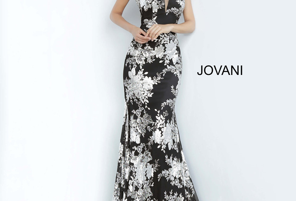 Jovani Long Sweetheart Neckline Dress 02475