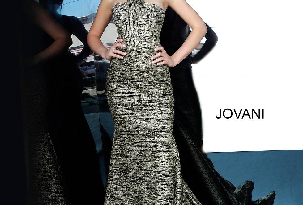 Jovani Fitted Halter Dress 1559