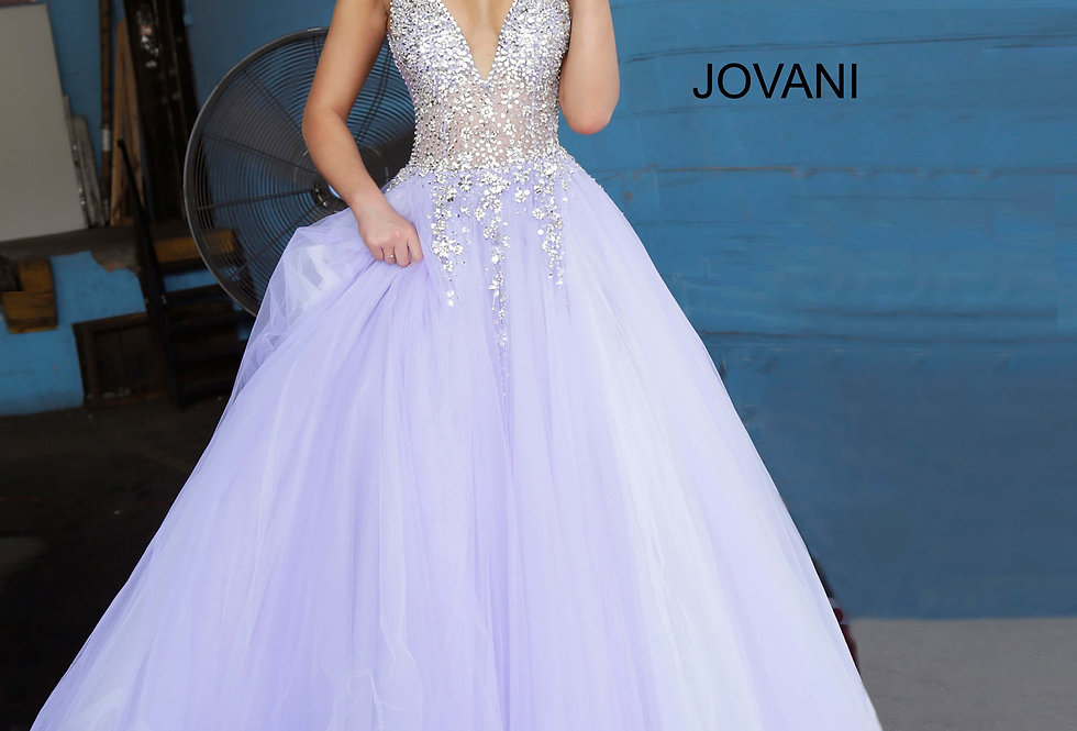 Jovani Ball Gown Tulle Dress 65379