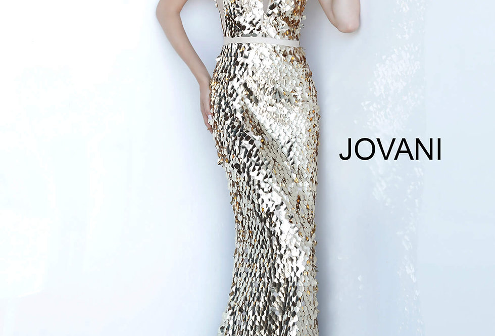 Jovani Long Beaded Dress 2543