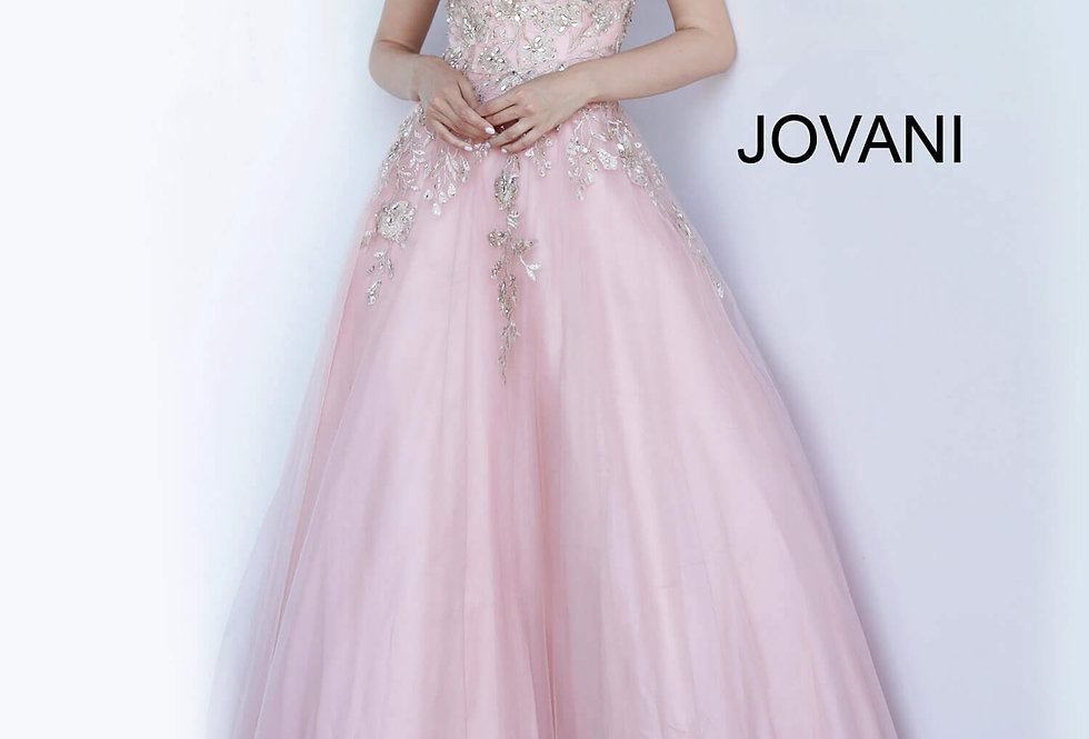 Jovani Beaded A Line Dress 3929