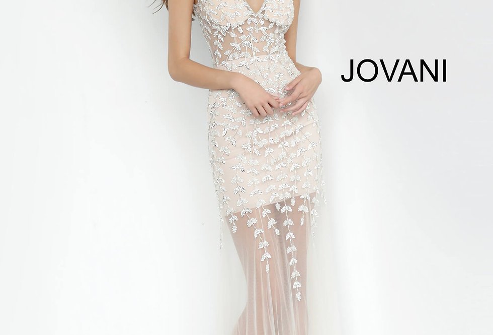 Jovani Open Back Fitted Dress 3959