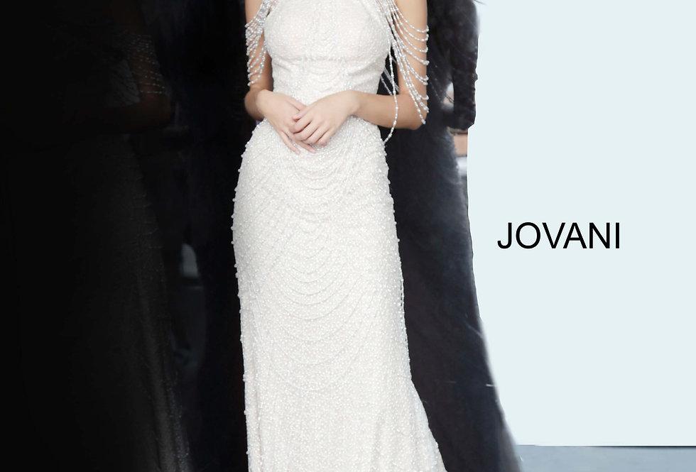Jovani Off The Shoulder Beaded Dress 3363