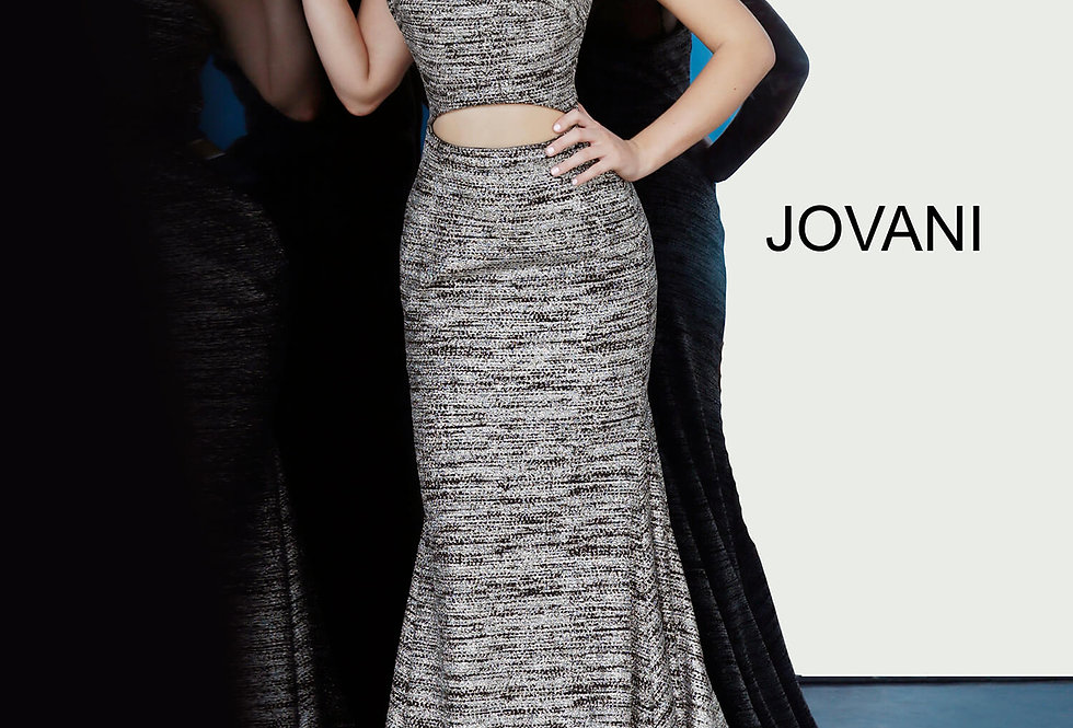 Jovani Fitted Glitter Dress 1129