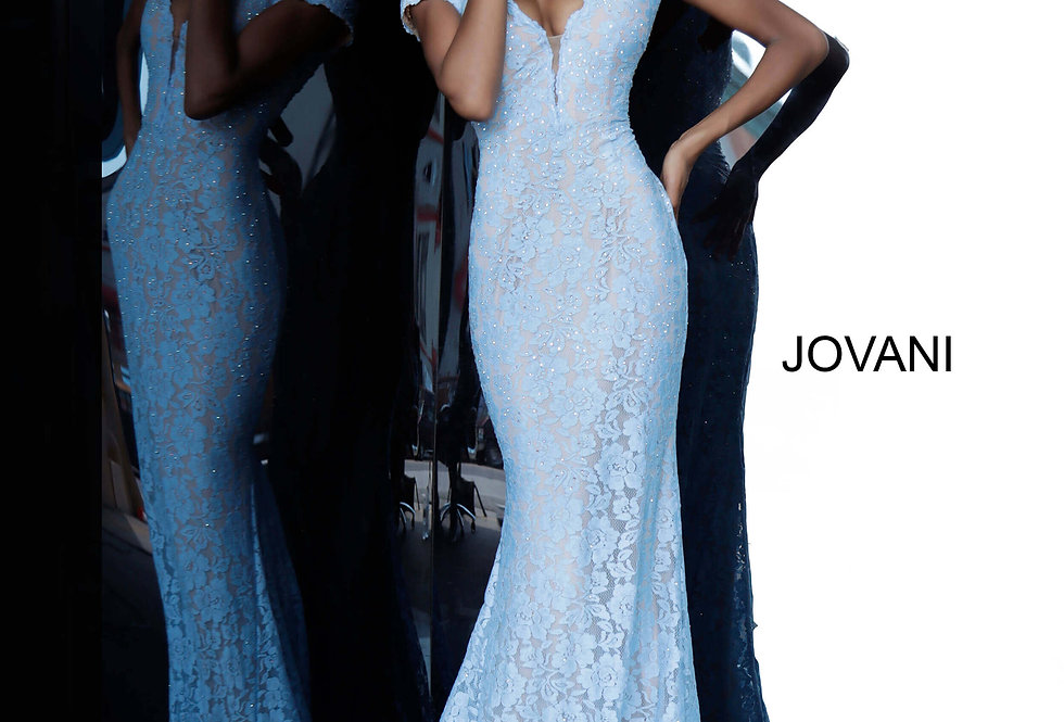 Jovani Cap Sleeve Full Figured Dress 67304
