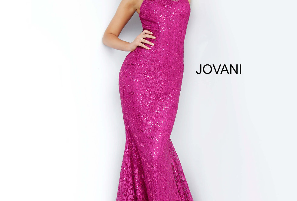 Jovani High Neckline Beaded Dress 3559