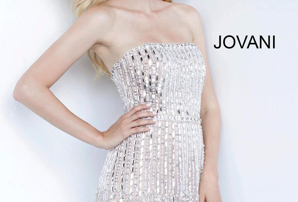 Jovani Short Strapless Beaded Dress 67278