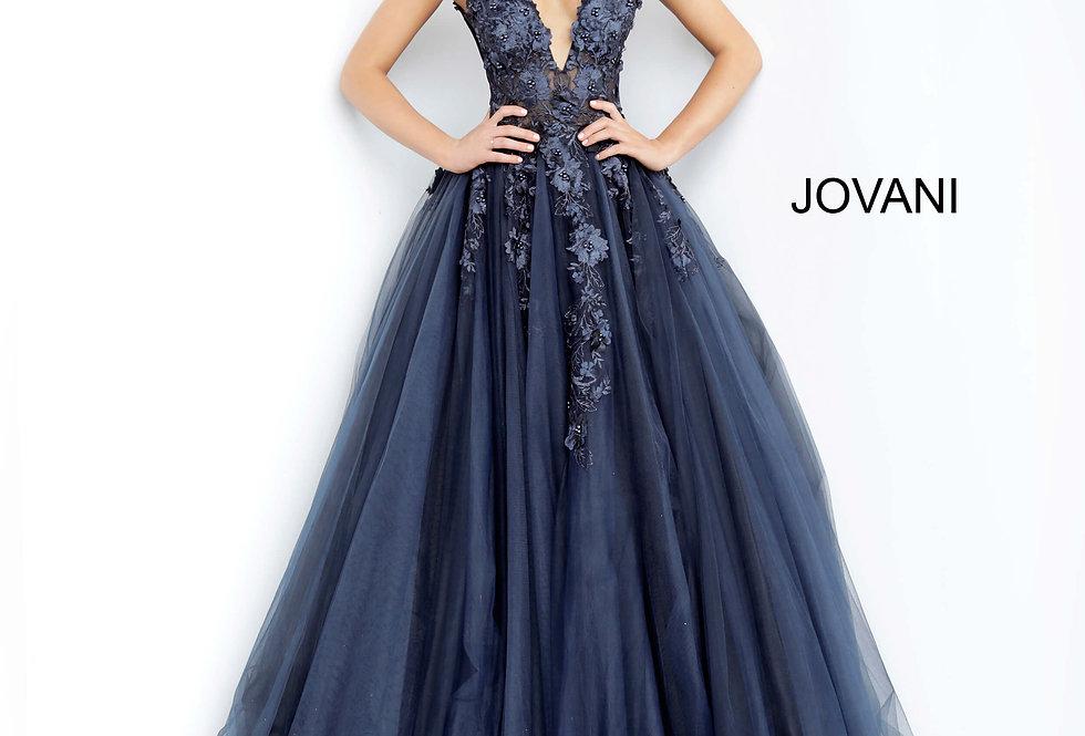 Jovani V- Neckline A Line Dress 55634