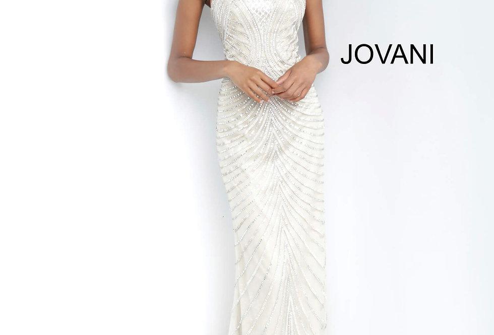 Jovani Beaded Halter Dress 00834