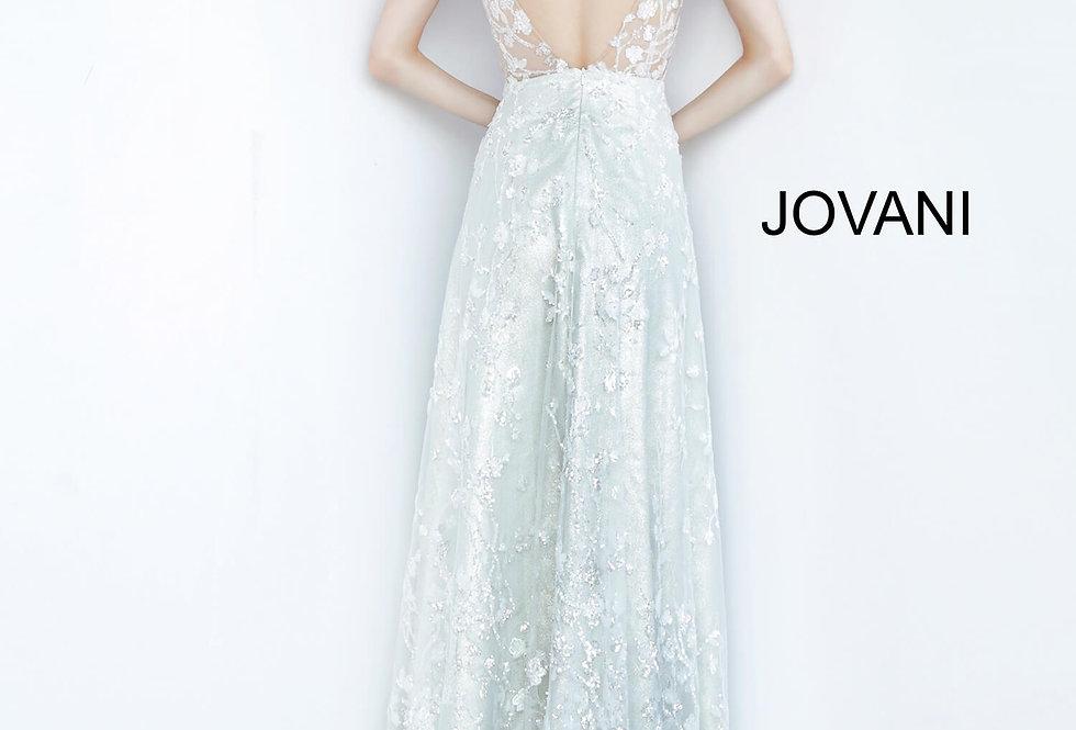 Jovani White A Line Dress 03462
