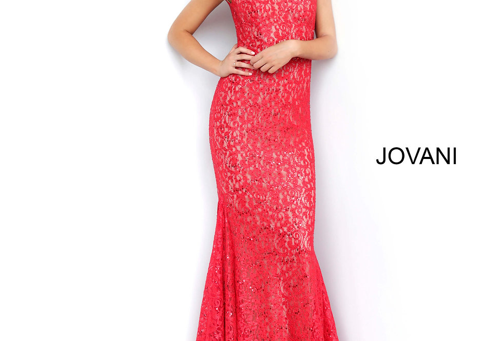 Jovani Cap Sleeve Fitted Dress 64521