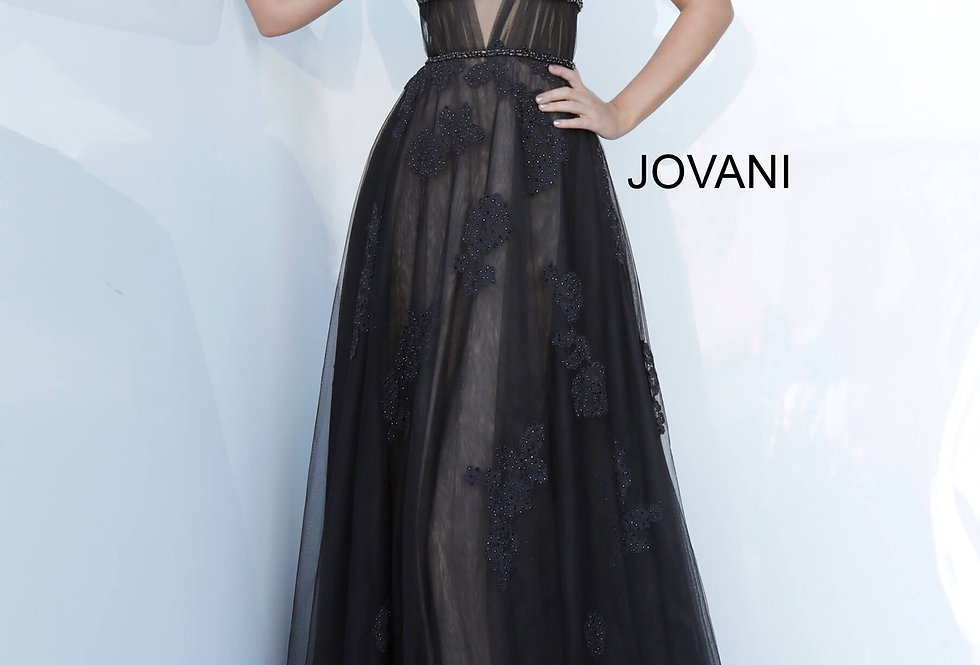 Jovani Long Beaded Dress 1025