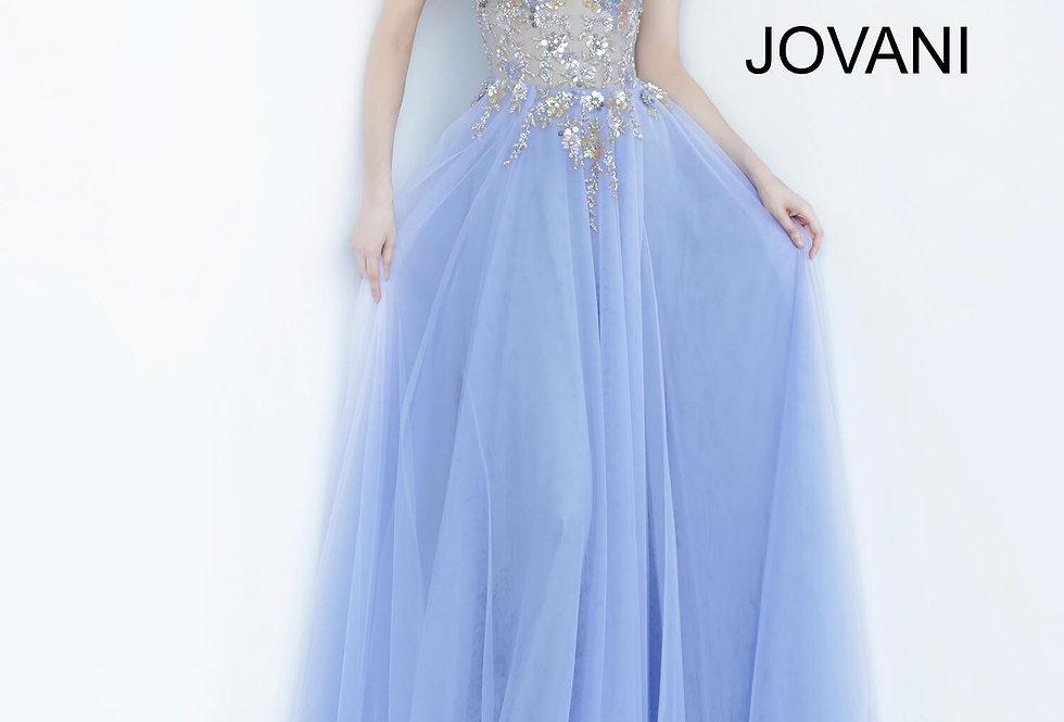 Jovani Beaded Tulle Dress 00594