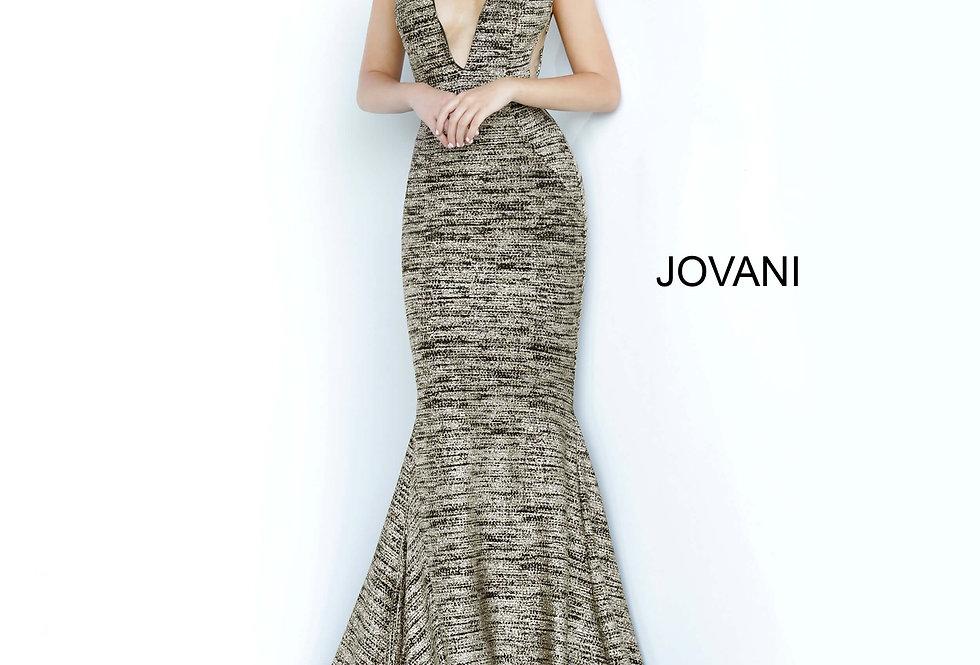 V- Neckline Fitted Jovani Dress 47075