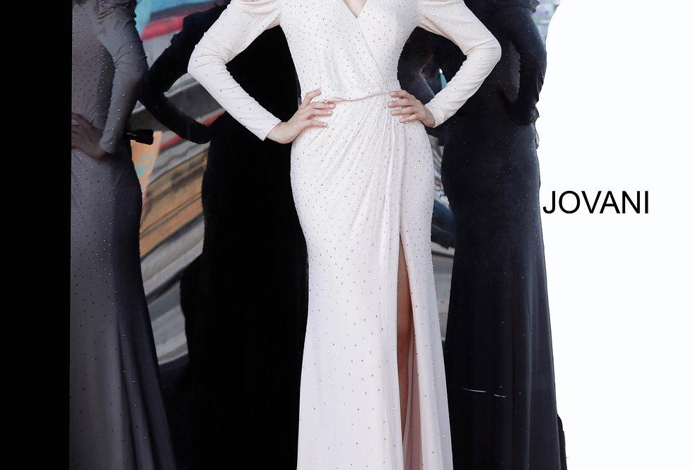 Jovani Long Sleeve Beaded Dress 66323