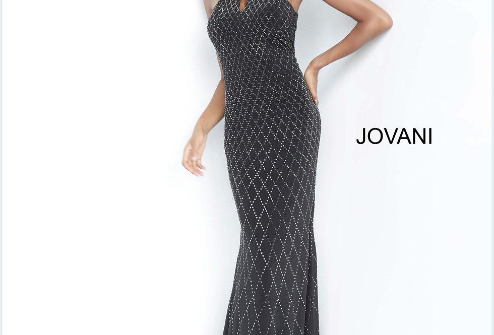 Jovani High Neckline Jersey Dress 4033