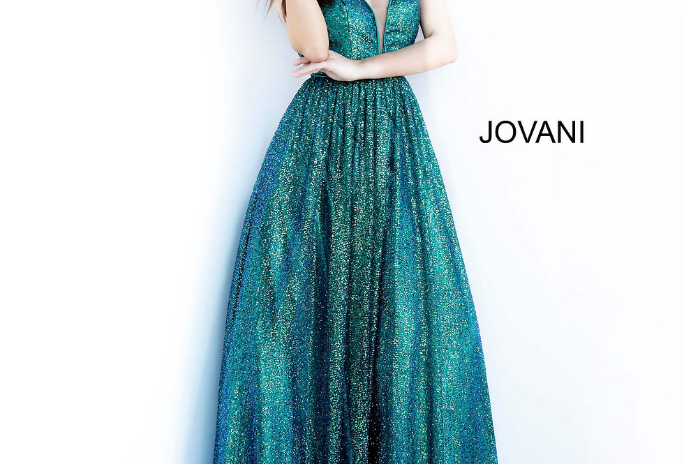 Jovani V-Neck Glitter Dress 4198
