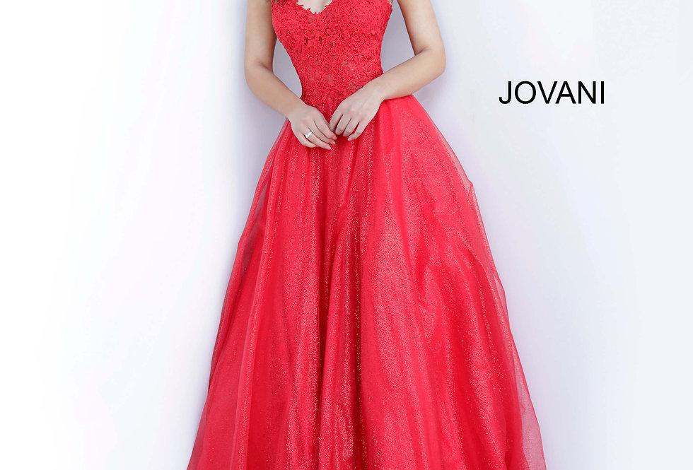 Jovani Beaded V-Neck Dress 67051