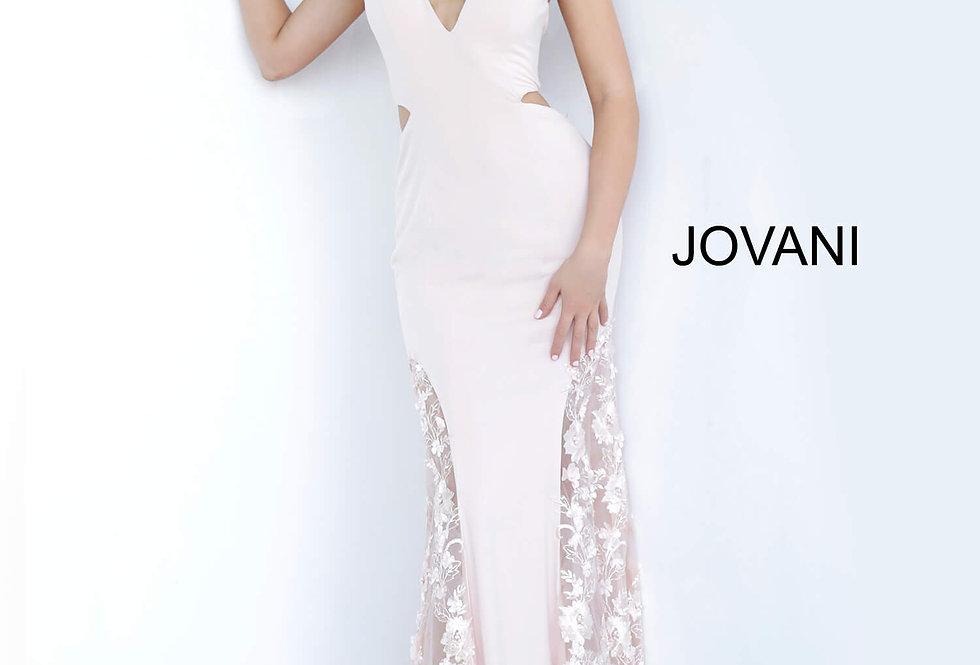 Jovani V-Neck Applique Dress 3770