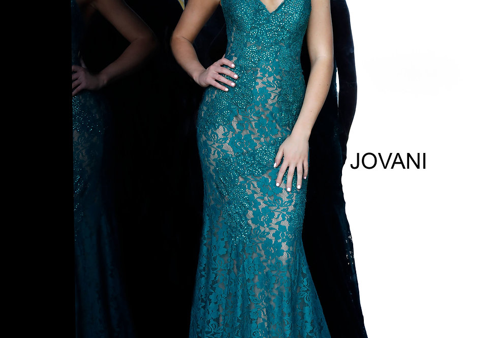 Fitted Long Jovani Dress 37334