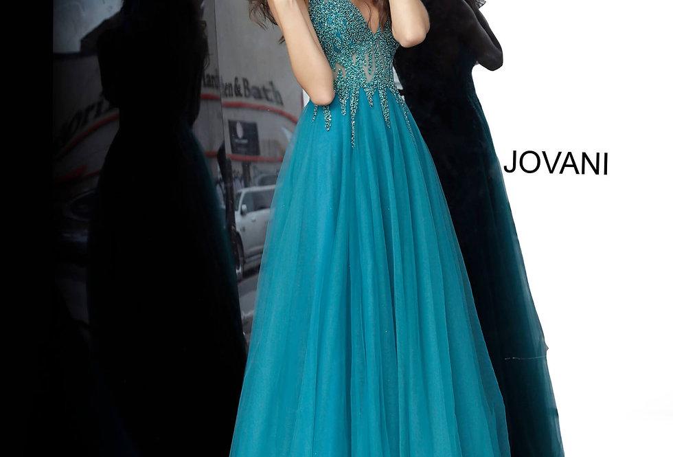 Jovani Long Beaded Dress 54873
