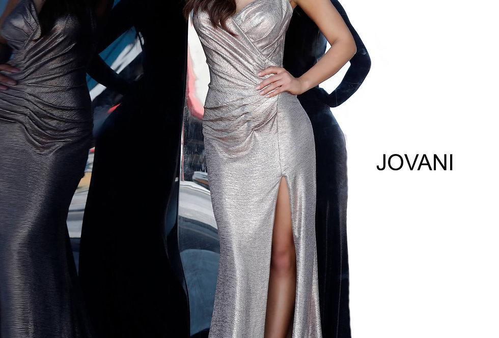 Jovani Slit Glitter Dress 67798