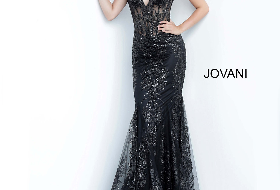 Jovani Mermaid Glitter Dress 3675