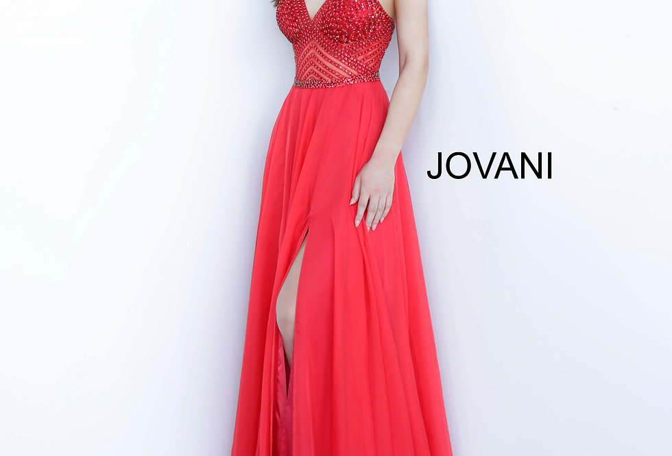 Jovani Sweetheart Chiffon Dress 66925