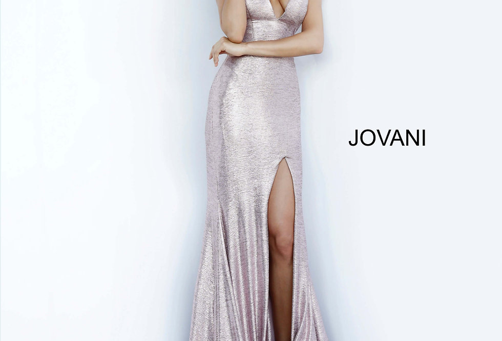 Jovani Open Back Fitted Dress 67963