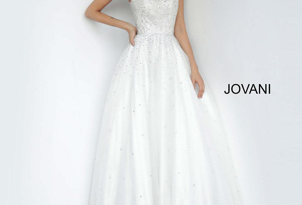 Jovani Strapless Tulle Dress 65664