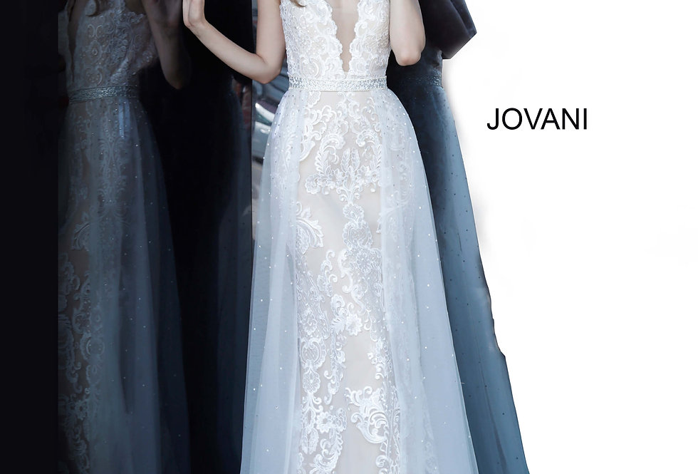 Jovani Beaded Fitted Dress 59345