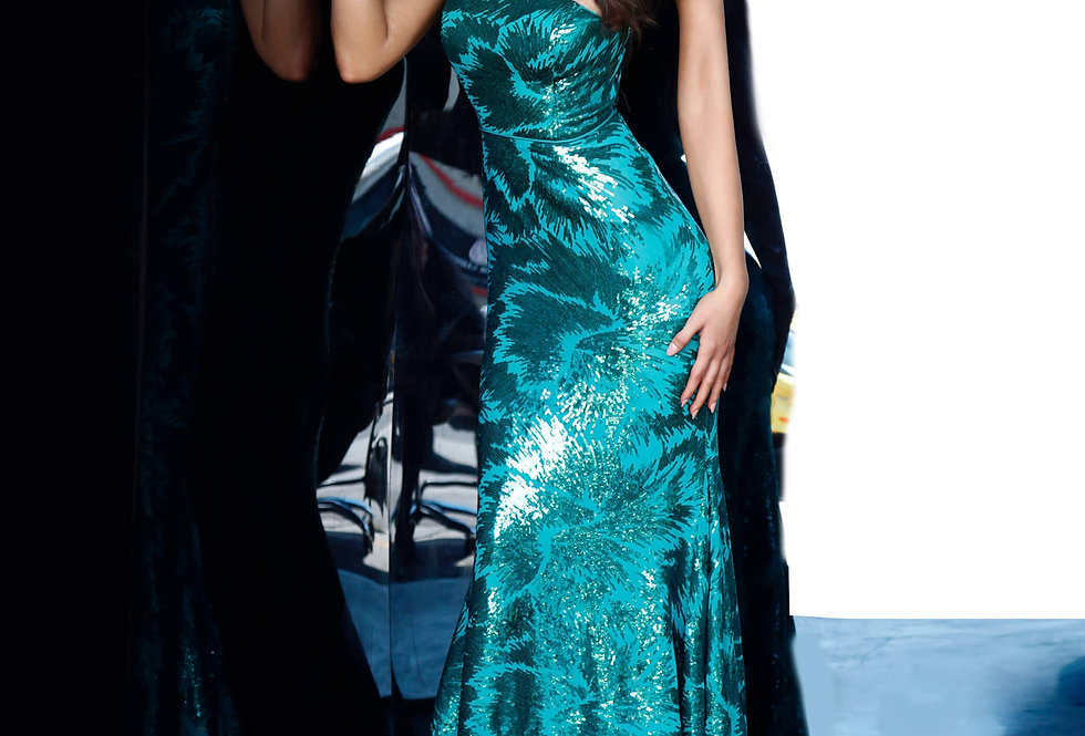 Jovani Fitted Long Dress 1845