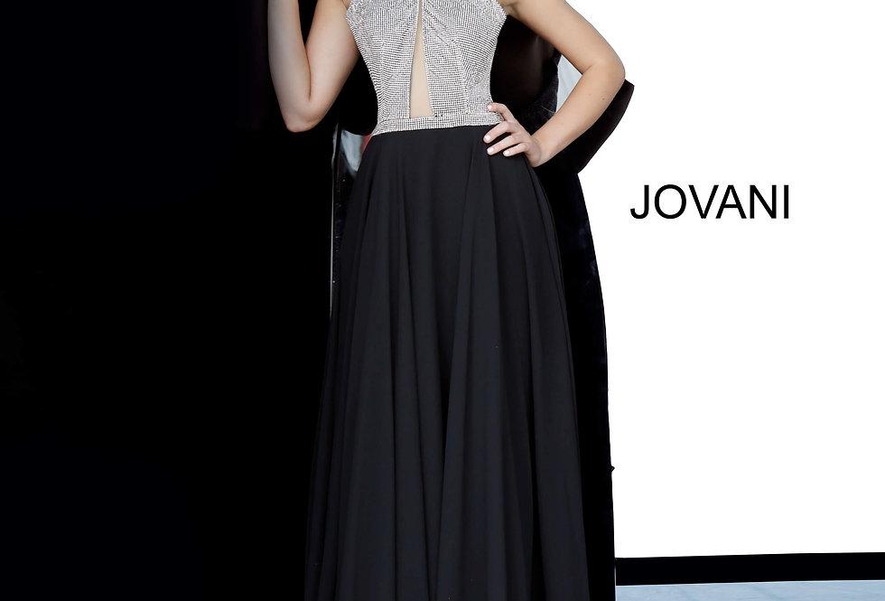 Jovani High Neckline Chiffon Dress 4201